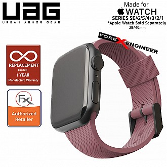 UAG [U] Dot Silicone Strap for Apple Watch Series SE / 6 / 5 / 4 / 3 / 2 / 1 ( 40mm / 38 mm ) - Dusty Rose (Barcode: 812451036282 )